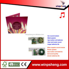 Fashionable European Style Greeting Card With Recordable Sound Module