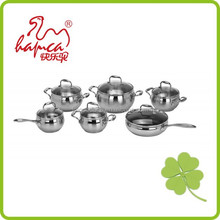 New product kitchenware 12pcs flower decal enamel cast iron cookware sets /NX007
