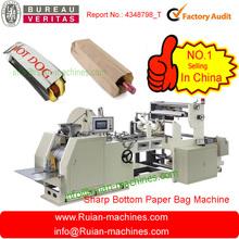 la máquina de papel que hace la bolsa para el pan