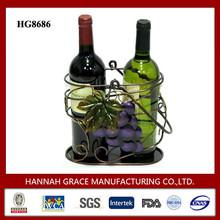 2 Bottle Metal Wine Carrier For Sale