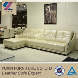 2015 new style white leather sofa sale for home use