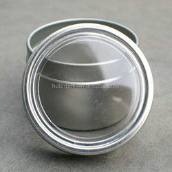 cosmetic tin round shape