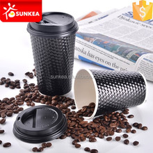 Hot drink custom printed disposable diamond paper cup