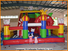 0.55mm double coated PVC tarpaulin inflatable combo slide bouncer for kids
