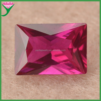 High Quality 8*10mm 5# rectangle synthetic ruby wholesale price