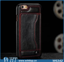 China Manufacturer PU Leather Flip Wallet Case for iPhone 6, Super Slim for iPhone 6 Mobile Phone Case
