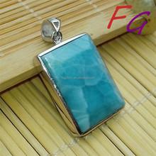PD-S-0066 Larimar Gemston 925 sterling silver pendant, Natural Larimar Pendant