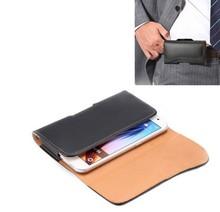 Crazy Horse Texture Waist Belt Clip Holster Flip Leather Case for Galaxy S6
