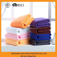 80% polyester and 20% polyamide microfiber towel with beautiful colour