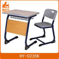 steel frame ergonomic single school desk and chair