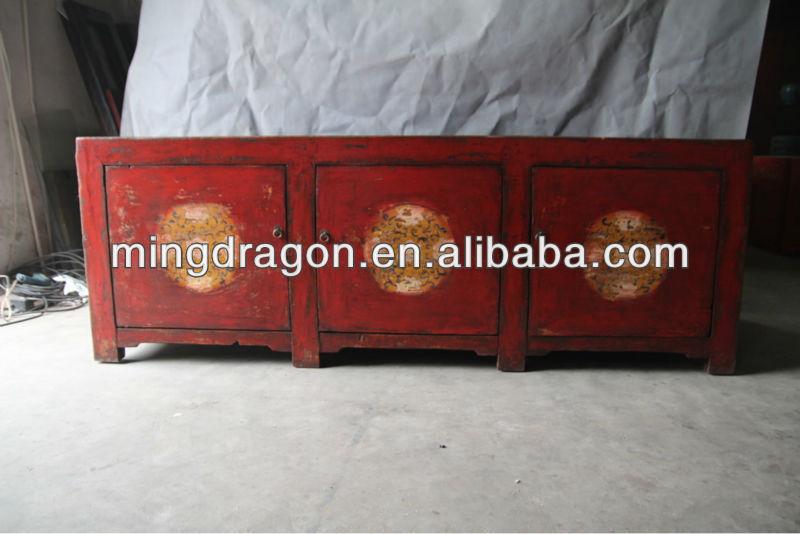 Chinois antique salon rouge dessin meuble tv meubles en for Meuble antique chinois
