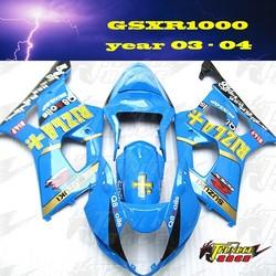ABS Injection Mold Fairing kit for SUZUKI GSXR1000 K4 year 2003 2004 03 04