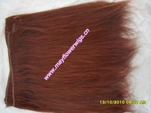 100% indian/brazilia /chinese remy/human Hair machine made hair extension hair weft 33# silky straight wave