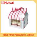 Caja de pastel de plástico hecho a mano Cartón de Calidad Alimentaria