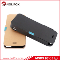 Plastic Mobile Phone Battery Case With Colorful Frame External Power Power Bank For Iphone 5 Case With Flip Cover