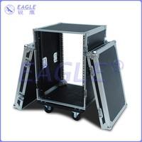 16U standard shockproof flight case with wheel