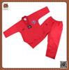 hot sale V neck red taekwondo uniform