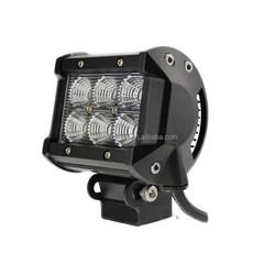 4INCH 18W LED WORK LIGHT BAR Flood/Spot light 4x4 jeep off road led lighting
