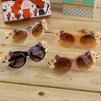 Hot Fashion Hot Retro Vintage Shades Women Designer Rose Flowers Sunglasses