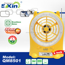 Solar charge with FM radio,light,MP3 multifuntion rechargeable fan(QM8501)