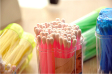 200 pcs cotton bud in PP can color cotton buds