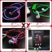 light up earphone, 2015 new product competitive price, el glowing earphones