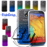 Wholesale Popular 3D Raindrops Gradient Color Style Transparent Soft TPU Case For Samsung Galaxy Note 3 fast delivery