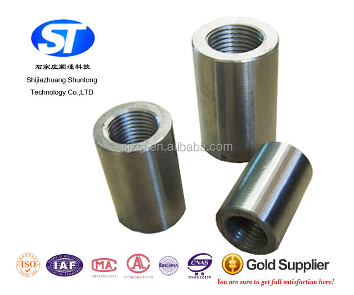 Rebar thread joint steel rod sleeves oem
