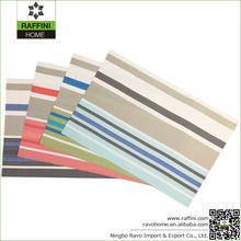 Fashion PVC Multicolor Wide Stripe Placemat