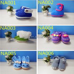 Manufacturer wholesale new design handmade baby crochet wool shoes