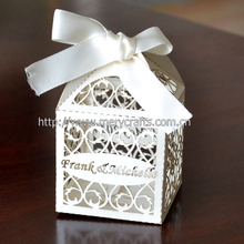 "2014 World Cup Products ! ""Filigree"" Favor Box With Free Organza Ribbon From Mery Crafts"