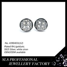 925 silver ear decorates fancy earrings for party girls stud earring paved 3A CZ micro paved