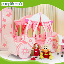 2015 modern design wooden Pumpkin luxury princess kid bedroom furniture child bed