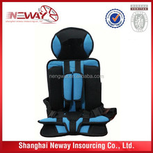 Popular design baby car seat cushion/ booster car seat cushion can print or embroider your logo