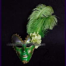 WHM-033 Yiwu Caddy2014 new style feather flower carnival birthday party mask