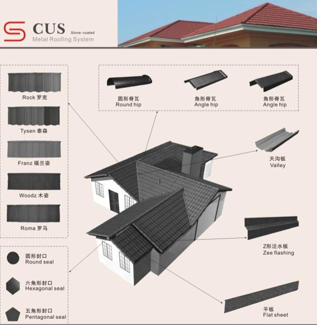 Stone Coated Roofing Shingle Asphalt Shingle Manufacturers