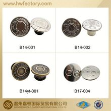 brass jeans button/metal button decorating for pants