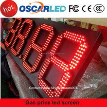 Australia 7 segment led gas price display/led gas station sign/led fuel sign in Shenzhen Oscarled