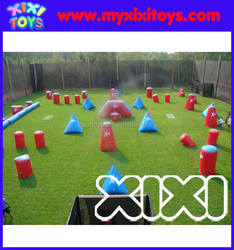 Inflatable airsoft paintball bunkers from Guangzhou xixitoys