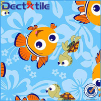 adorable picture cartoon logo printed fabric with your own design and customization