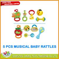 Safe baby toy 5PCS cartoon baby rattle