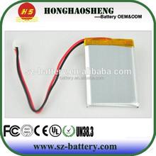3.7v solar battery pack 800mah lipo/li-ion battery for solar lamp