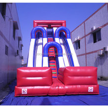 Popular children inflatable game water sport slide