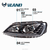 Fast supply xenon headlights for Jetta mk6 headlamp and Jetta led head light with DRL
