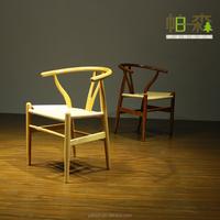 Oak Paper cord chair Danish Modern Design Chair Solid Wood Frame Rattan Cushion Chair