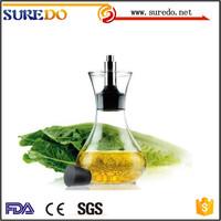 Handmade Glass Bottle Olive Vinegar Oil Cruet with stopper