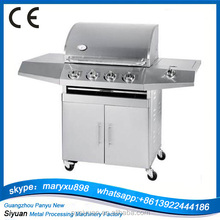 4 furnace commercial gas BBQ grill with CE