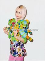 Free shipping short sleeves lovely panda printed girls fashion tops
