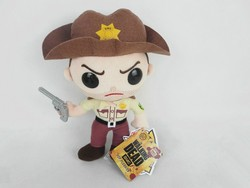 Custom charactor plush toy The Walking Dead plush toys Game toys plush doll with gun