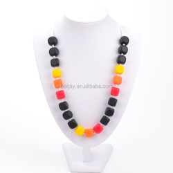 Top Selling Colorful Bead Necklace For Baby Silicone Teether